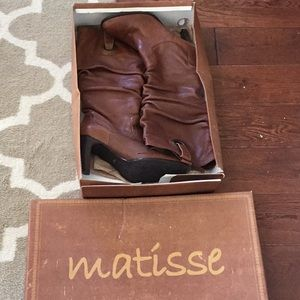 1 HR SALE Matisse Tasha Cognac Leather Boots